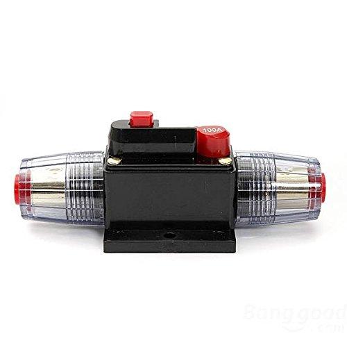 mark8shop DC 12V Car Stereo Audio Circuit Breaker Inline Sicherung 100Amp 100A (Car-audio-sicherungen)
