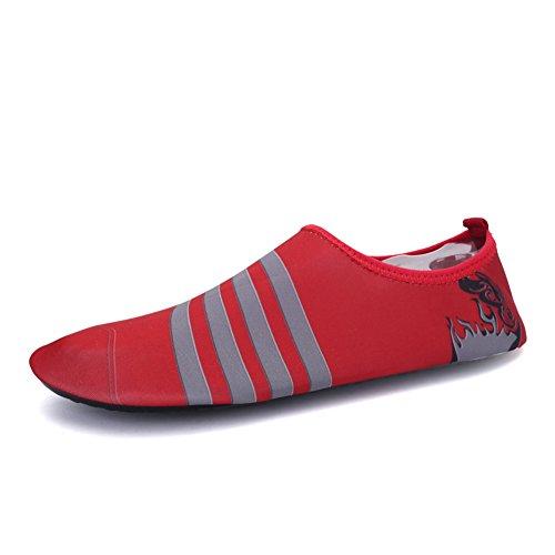 Schuhe Schwimmschuhe Rutschfest 3rot Damen Badeschuhe Baby Wasserschuhe Kinder Weiche Herren Aquaschuhe Eagsouni® Für twXpYxHwq