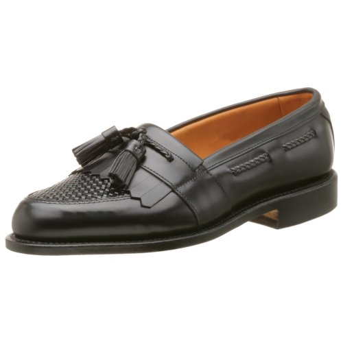 Allen Edmonds Men's Cody Tassel Loafer,Black/Black,8.5 E Allen Slip On