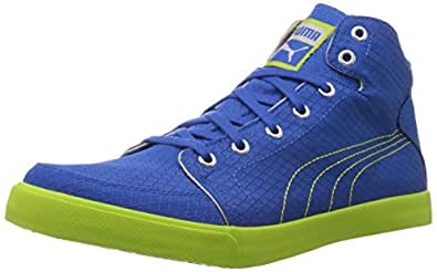 Puma Men's Drongos DP Blue-Lime Punch-Silver Mesh Running Shoes - 10UK/India (44.5EU)