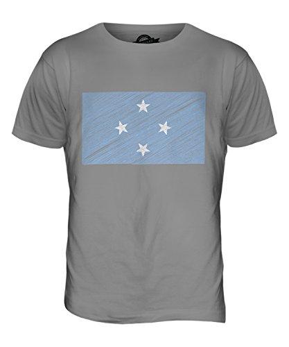 CandyMix Mikronesien Kritzelte Flagge Herren T Shirt Hellgrau