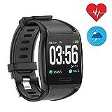 Mengen88 Smart Watch 1.3 Zoll Color Screen Sports Bracelet Fitness Tracker mit Blood Pressure Heart...