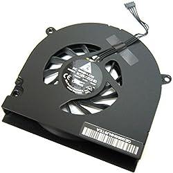 OLVINS Laptop CPU Ventilateur de Refroidissement pour Apple Macbook Pro 13'' Unibody A1278 A1280 A1342