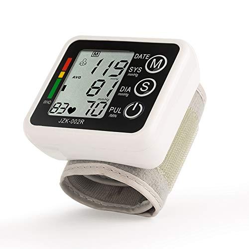 YHMMOO Handgelenk Blutdruckmessgerät mit Digital LCD Display und Sprachfunktion Einfach Präzise und Sicher,2 * 99 Speicher,Black