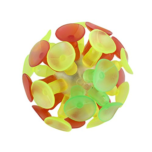 TOYMYTOY 4 STÜCKE Kinder Mehrfarbige Saugnapf Ball Flash Luminescence Spielzeug Party Spielzeug für Kinder