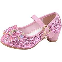 612a6baf0 La Vogue Zapatos Zapatilla con Lentejuela para Niña Princesa Fiesta