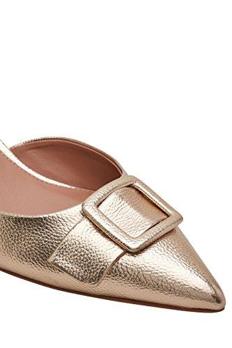 Suivant Femme Chaussures À Boucle Et Talon Aiguille En Or