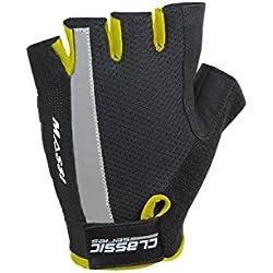 Massi Classic - Guantes de ciclismo unisex, color negro / amarillo flúor, talla L