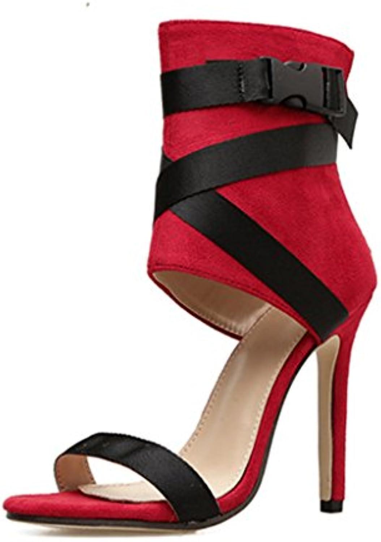 e4a36ac33a1 Women s Women s Women s High Heel Sandals Stilettos Colorblock Open Toe  Ladies Kitten Pump Simple Fashion Wedding