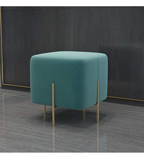 Velliceasay Design Hocker,Kleine Liege möbel Sofa hocker möbel lässig Tuch, Massage Liege, einfache Sofa Sessel, schönheit schlafsofa, hocker, Tiffany blau (45 * 45 * 42)
