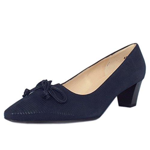 Peter Kaiser Stephanie Tacco Chaussures Pointed Toe Corte À Lucertola Blu Marina Navy Lizard