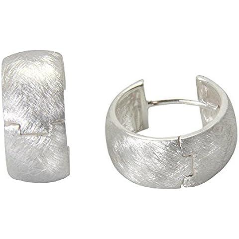 Esquí Elka–Juego de diseño JOYAS–Criollo Plata Oro herrero trabajo (Plata de ley 925)–Plata Pendientes de aro 16x 7,5mm