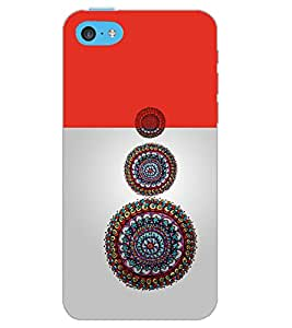 PrintDhaba CIRCLE PATTERN D-6912 Back Case Cover for APPLE IPHONE 5C (Multi-Coloured)