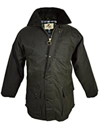 Regents View Mens & Ladies Padded Wax Raincoat Jacket. 100% Wax Cotton. Made in The UK