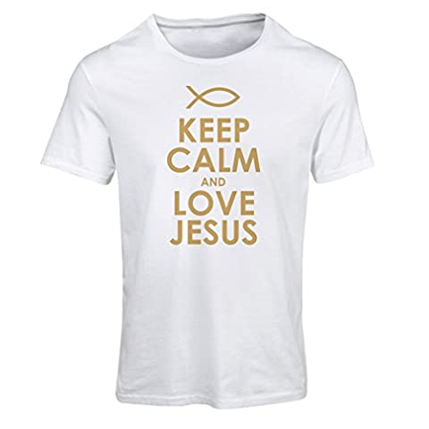 T shirts for women Love Jesus Christian gifts Christian shirts Jesus shirt (Medium White Gold)