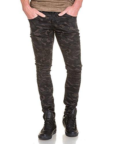 BLZ jeans - Jean schlanker Mann gerippt Tarnung Schwarz