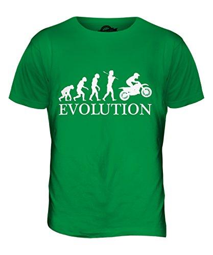 CandyMix Motocross Evolution Des Menschen Herren T Shirt Grün