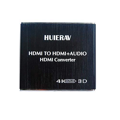 HUIERAV 4K*2K Konverter - HDMI zu HDMI + Optisches SPDIF mit 3,5-mm-Stereo-HDMI Audio-Extractor | HDMI zu SPDIF Konverter, Splitter |HDMI zu Cinch Analoge Audio-splitter