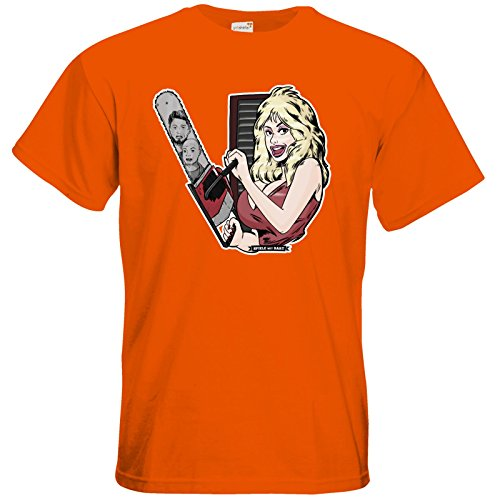 getshirts - Rocket Beans TV Official Merchandising - T-Shirt - Spiele mit Bart - Dolly Orange