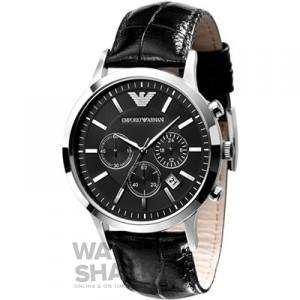Emporio-Armani-Mens-AR2447-Stainless-Steel-Leather-Strap-Watch