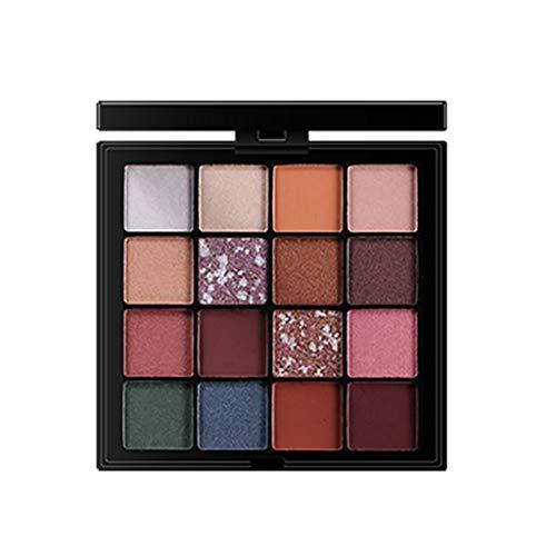 Eyeshadow Palette, ChsheTM 16 Farben Lidschatten-Palette Makeup Kit Set Pailletten Matte Perlglanz Lidschatten Golden Powder Puder Beauty Make-Up Kosmetik (Maquillajes Halloween Para)