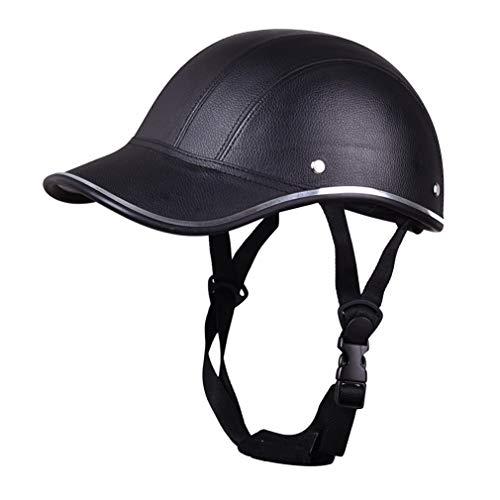 LHY RIDING Fahrradhelm Halb Helm Helm Baseballmütze Helm Männer Und Frauen Licht Halb Helm Frühling Und Herbst Kopfumfang (540-600mm),Black