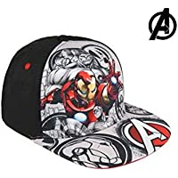 Cerdá Premium Avengers Gorra de Tenis, Color Negro, 52-58 cm (2200002867)