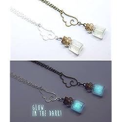 Collar que Brilla en la Oscuridad, Collar con Botecito, Collar Botellita, Collar Friki, Collar Fantasia, Disfraz de Hada, Disfraz de Angel