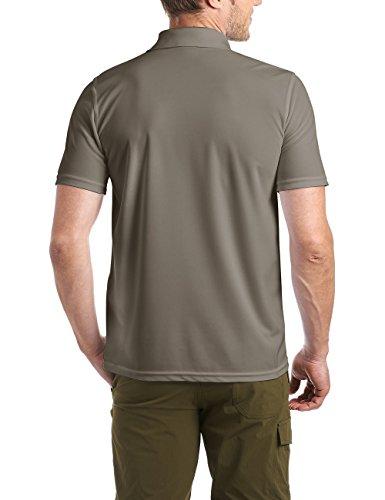 Maier Sports Herren Polo 1/2 Arm T-shirt, teak