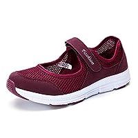 أحذية المشي - أحذية مشي نسائية جديدة 2020 شبكة للسيدات أحذية رياضية مريحة جيدة التهوية للنساء خفيفة الوزن ماركة مصممة أحذية رياضية للسيدات (بوردوكس 36)