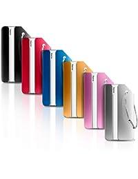Ivencase 6 pièce Mix Couleurs Bagages Étiquettes en alliage d'aluminium avec cordes en acier inoxydable, étiquettes valise, accessoires voyage