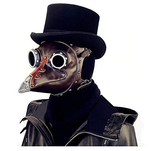 ogel-Maske, Gotische Maske Der Schutzbrille, Rollenspiel Masken, Punkgasmaske Halloween Brillenzubehör/Halloween Requisiten Herren/Herren Tasche ()