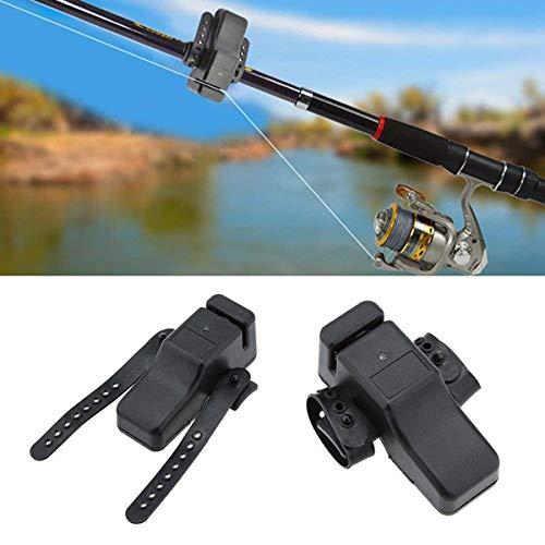 Alarma de mordedura de pesca, OXOQO Indicador electrónico de alarma de mordedura de pesca de alta sensibilidad portátil con correa ajustable Alarma de sonido en la caña de pescar