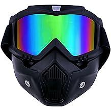 TedGem Casco Moto guantes moto guantes motocross Gafas Máscara desmontable, Máscara de la motocicleta,