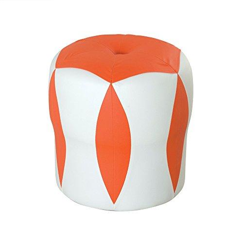 Kreativer Frisierhocker / Schuhe Bank / Piers / Kinder Lederhocker / Wohnzimmer Sofa Hocker / Bett Hocker niedrigen Hocker / Couchtisch Hocker / Multifunktionshocker / 33 * 35cm ( Farbe : Orange )