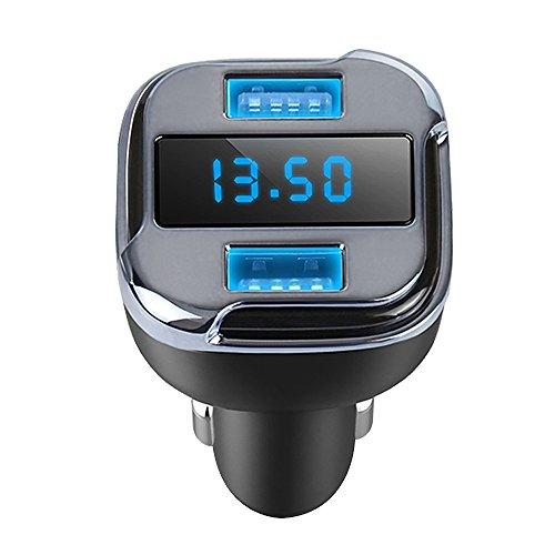 41NZeUez2 L - Cargador de Coche Tracker 4.2A Dual USB Coche rápido GPS Coche satélite con vehículo GPS localizador móvil App Buscador de Seguimiento en Tiempo Real de estacionamiento Dispositivos compatibles