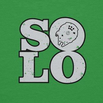 Planet Nerd - Solo Ship - Herren T-Shirt Grün