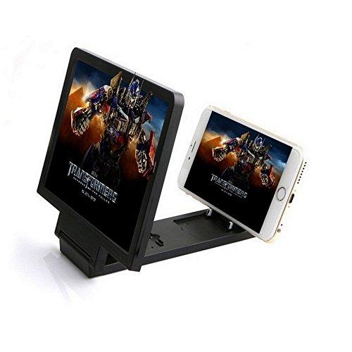 Écran de téléphone Loupe 3x Élargisseur Taille 20,3cm HD 3d support pour smartphone, téléphone portable