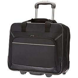 """AmazonBasics – borsa per laptop, con rotelle fluide e tasca frontale facile da aprire, per laptop fino a 16"""""""
