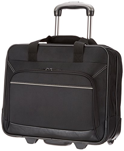 Business Cases Aktentasche Aktenkoffer (AmazonBasics Laptop-Rollkoffer / Trolley für Notebooks bis 16