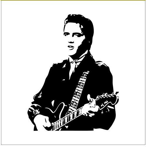 Elvis Presley Spielen Gitarre Zu Hause Aufkleber Wandaufkleber Rock Musik Dekor Tapete Fans Geschenk Adesivo De Parede Party Versorgung (Halloween Zu Musik Spielen An)