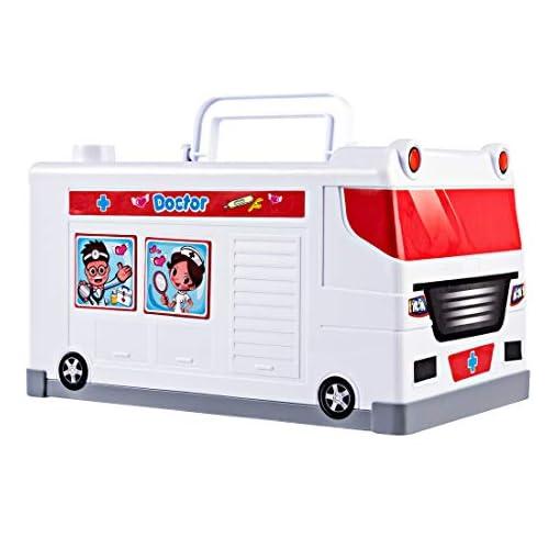 YVSoo-25Pcs-Krankenwagen-Spielzeugkiste-mit-Licht-und-Sound-Rettungswagen-Arztkoffer-Spielzeug-Arzt-Spielset-Rollenspiel-fr-Kinder-ab-3-Jahren