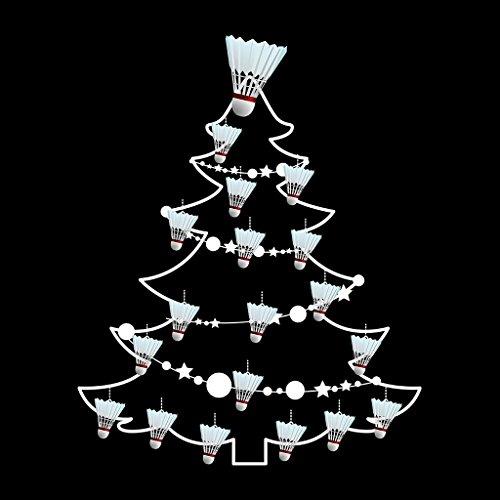 Badminton Shuttlecock Christmas Tree Baubles Women's Sweatshirt Black