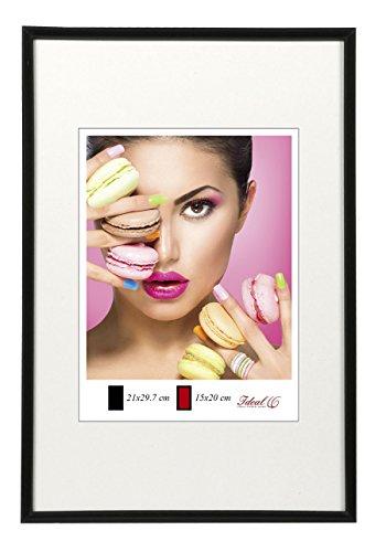 Photo Style Bilderrahmen in 20x30 cm bis 50x70 cm DIN Format Bilder Foto Rahmen: Farbe: Schwarz | Format: 40x60