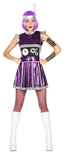 Atosa Disfraz mujer robot del espacio Color violeta M-L 17193