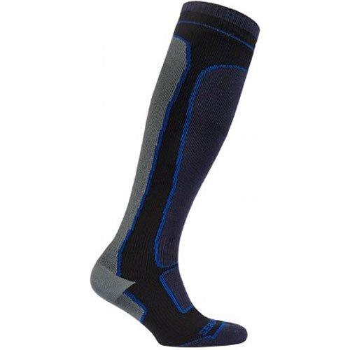SealSkinz Mid Weight lunghezza al ginocchio calzini, Uomo, Mid Weight Knee Length, Black/Grey, XL