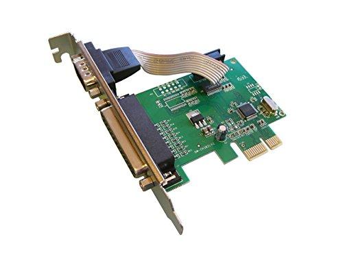 Kalea Informatique PCI-Express-Karte (PCI-E)//1Port Serie COM RS232Benczúr + 1Port, LPT DB25//mit Chipsatz wch382l-Kompatibel Windows 10/8.1/8/Seven/Vista/XP + LINUX 3.x/2.6.X + Rücken (Management Remote Windows)
