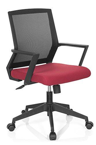 Sedia da ufficio Startec bai100in tessuto a rete nero/rosso HJH Office