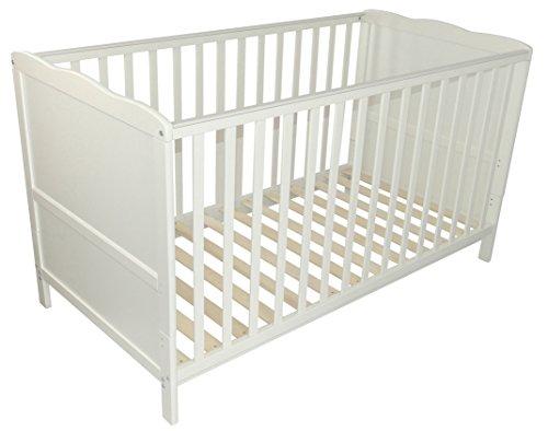 """Puckdaddy Babybett\""""Wolke\"""" 140 x 70 cm weiß, auch als Kinderbett nutzbar"""