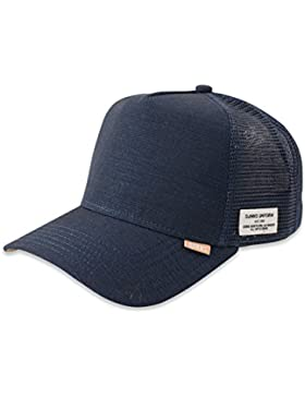 DJINNS - Glen Check (navy) - High Fitted Trucker Cap
